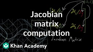Computing a Jacobian matrix(This finishes the introduction of the Jacobian matrix, working out the computations for the example shown in the last video., 2017-01-10T20:03:52.000Z)