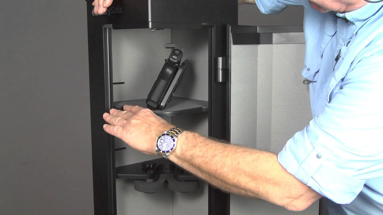 Home Defense Center Tactical Gun Safe by Sentry Safe review - YouTube