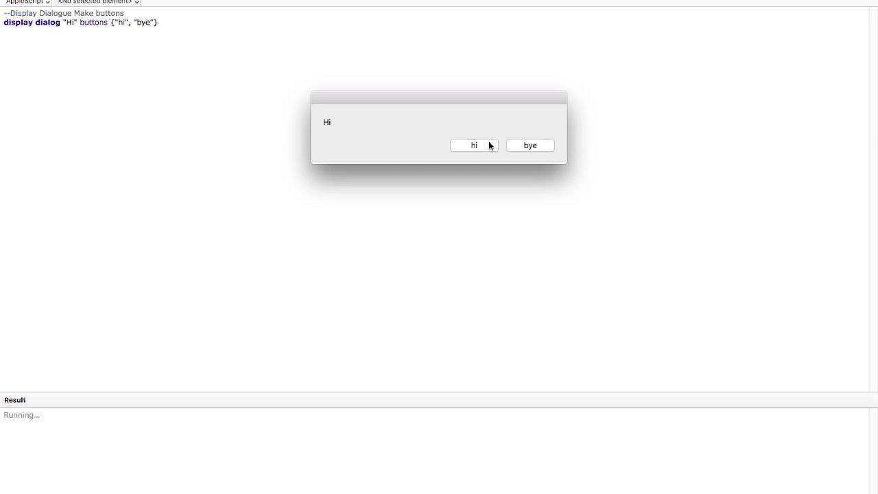 Applescript Display Dialog & Notification