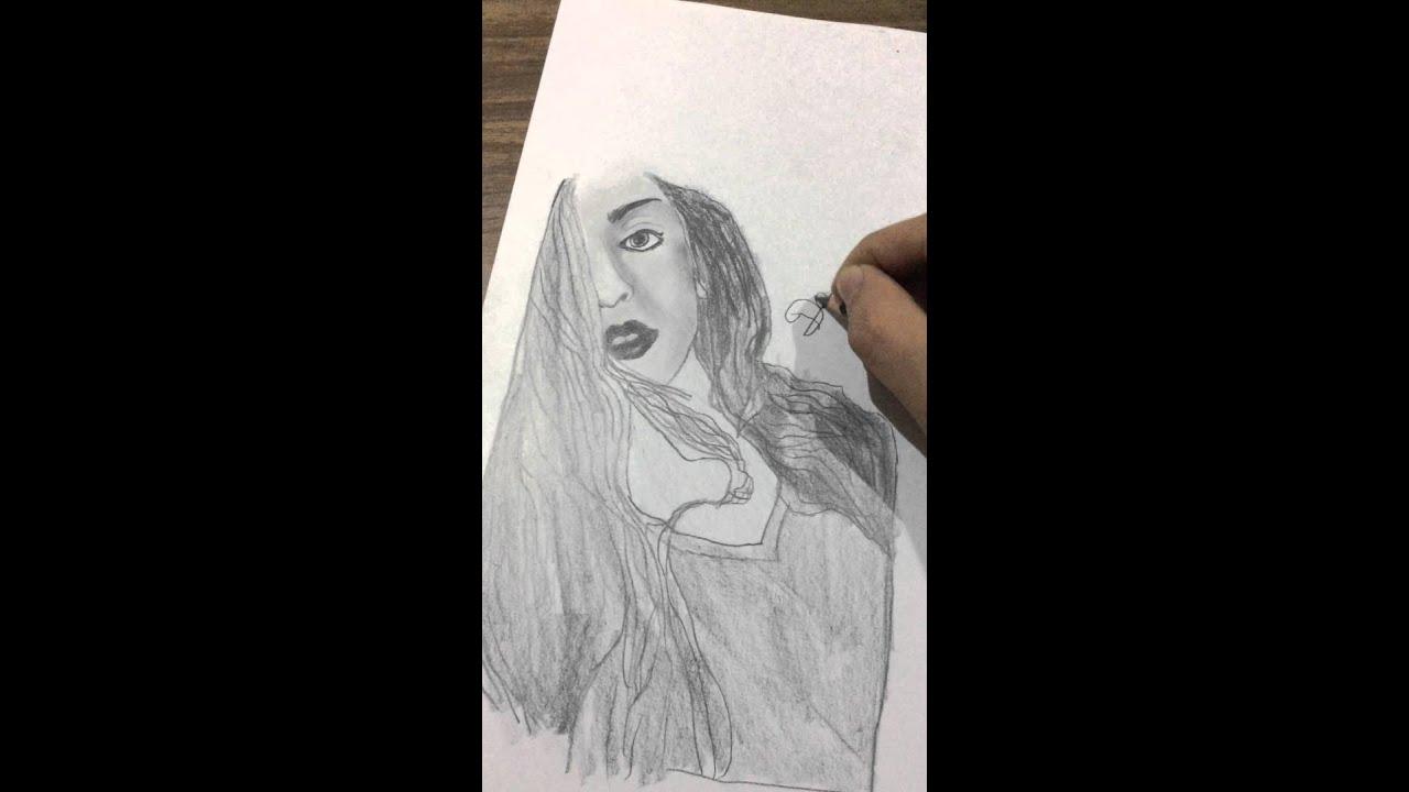 Hot pencil drawing hot pencil sketch