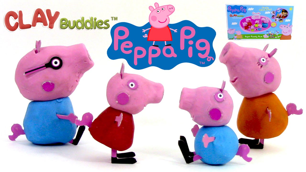p te modeler peppa pig peppa cochon figurines clay. Black Bedroom Furniture Sets. Home Design Ideas
