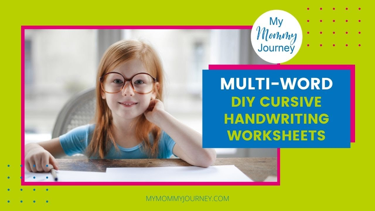DIY Handwriting Worksheets to Make Penmanship Fun   My Mommy Journey [ 720 x 1280 Pixel ]