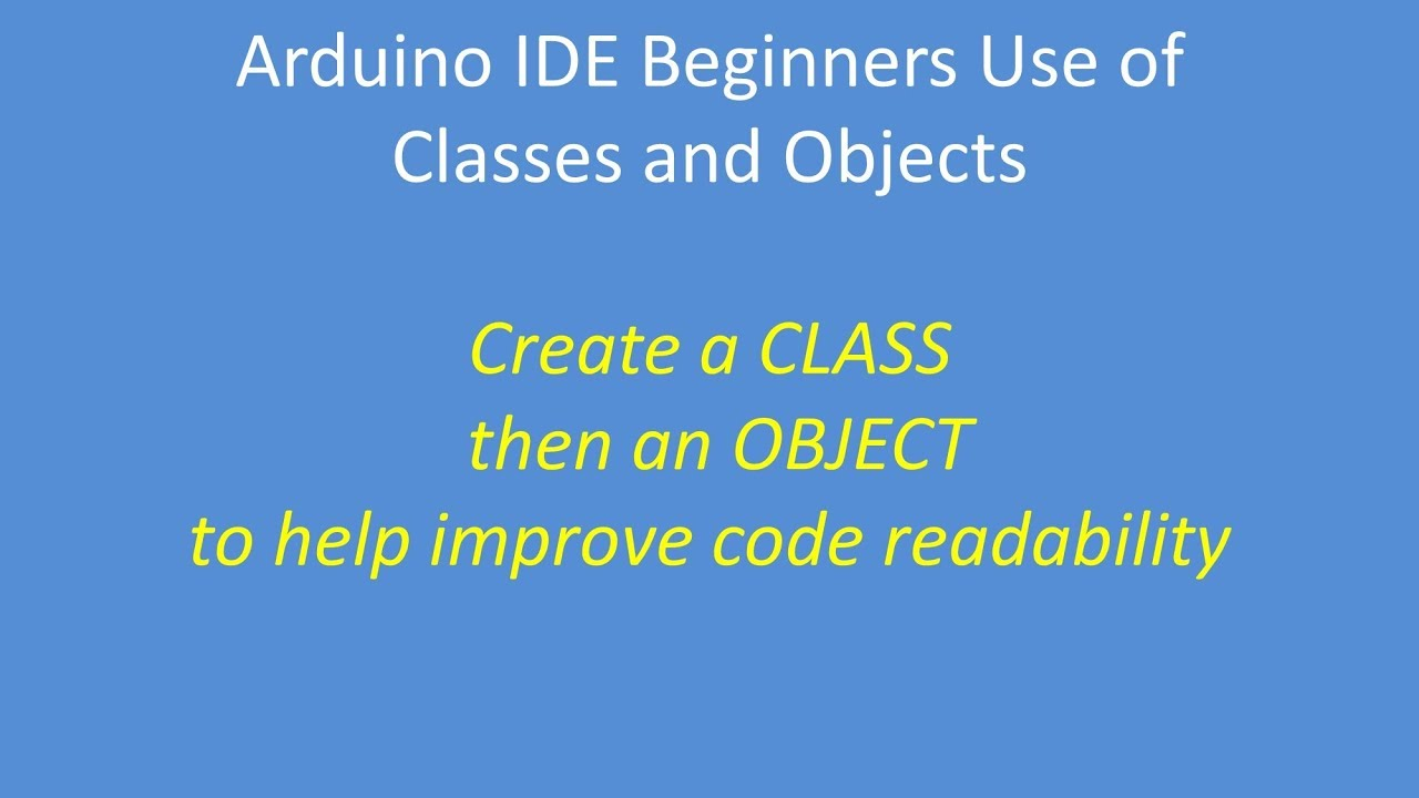 Tech Note 116 - Beginners guide to creating your own class and object