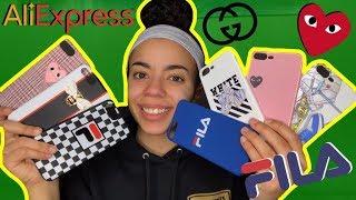 HUGE HYPEBEAST/DESIGNER LUXURY ALIEXPRESS IPHONE CASE HAUL! | Fila, Gucci, Off-White UNDER $3!