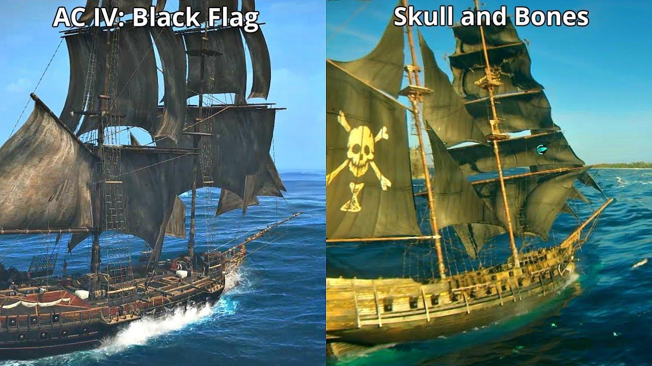 Skull And Bones Vs Assassin S Creed Iv Black Flag Graphics