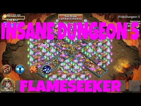 Castle Clash - Insane Dungeon 5-4 2 Flames