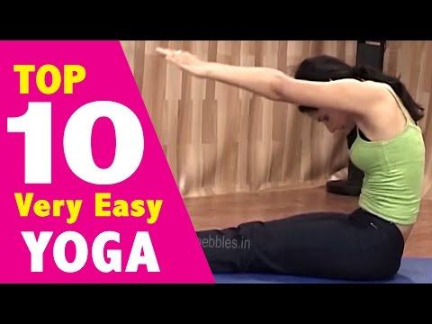 TOP 10 Very Easy YOGA-EXERCISE to Lose Weight Fast and Easy at home