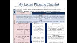 Methodology Pill No. 18 Language & Skills Lesson Planning Guidelines