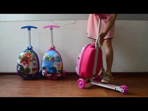 ZZMERCK Kids Suitcase Scooter
