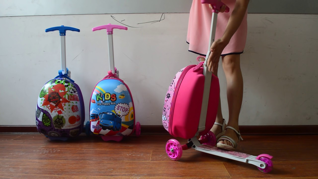 ZZMERCK Kids Suitcase Scooter - YouTube