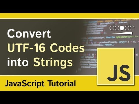 Convert UTF-16 Code into String with JavaScript | String.fromCharCode Method