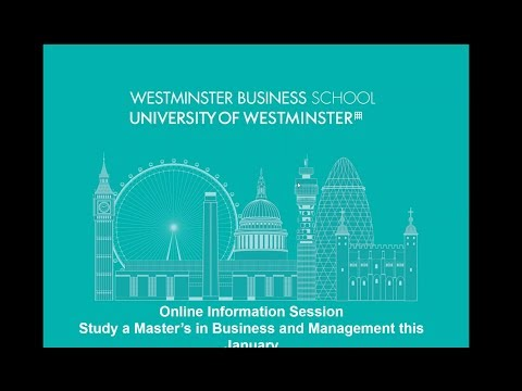 Online Information Session | Study a Master s in Business & Management this January