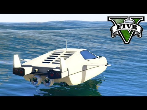 GTA V Online: O CARRO SUBMARINO que ANDA NA ÁGUA!!! (DLC The Doomsday Heist)