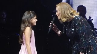 Download ADELE & little girl / Rumour Has It, Köln 2016-05-14 Cologne Mp3 and Videos