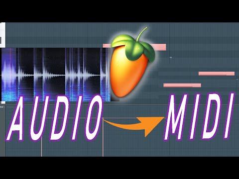 Pasar de  AUDIO (MP3 | WAV) a MIDI en FL Studio 20 🍐