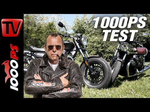 1000PS Test - Moto Guzzi V7 III Anniversario gegen Moto Guzzi V9 Bobber - Moto Guzzi forever!