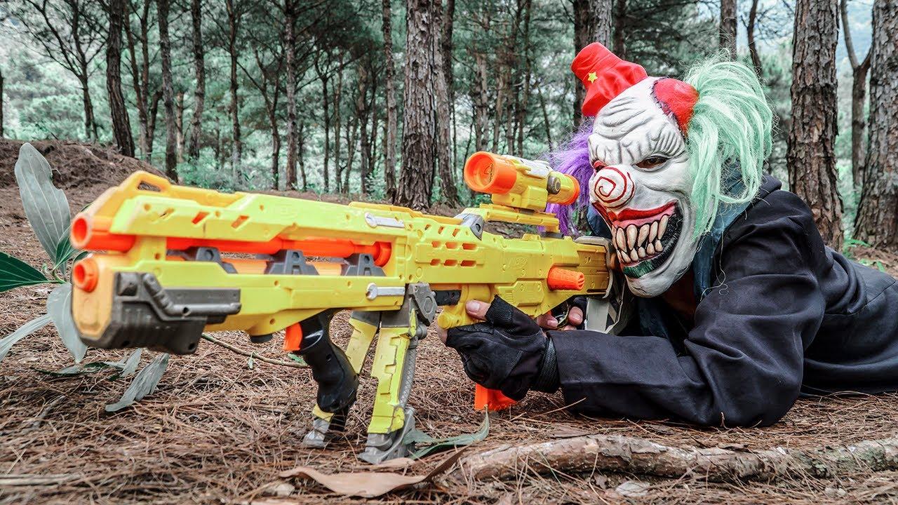 LTT Films : S.E.A.L X Nerf Guns Fight Criminal Group Black Demon Mask World War of Warriors