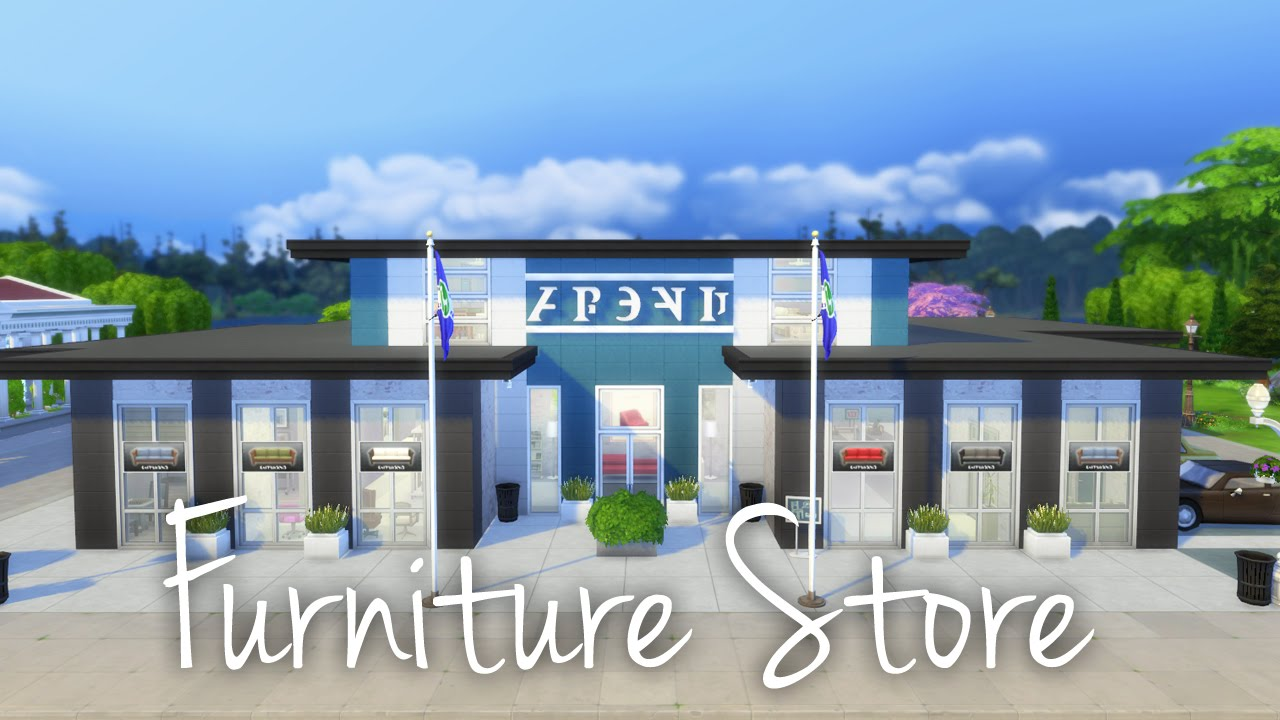 The sims 4 speed building furniture store youtube for V furniture outlet palmdale