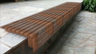 Outdoor Wooden Slat Bench Seat How