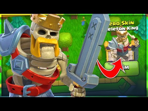 NEW! SKELETON King Skin   Clash Of Clans Update! TH 8 F2P Let's Play Series Ep. 16