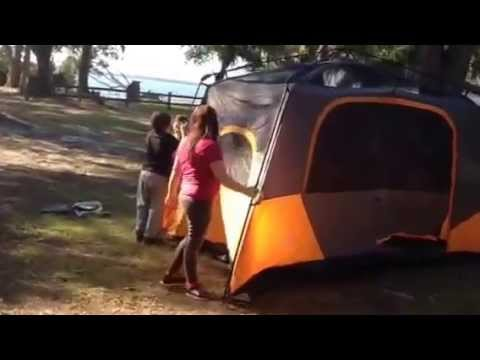 & Ozark Trail easy pop up tent by little Bob and Lucy - YouTube