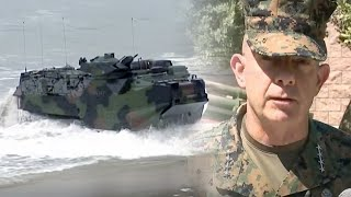 Marine officials give an update on the amphibious assault vehicle training accident off CA coast