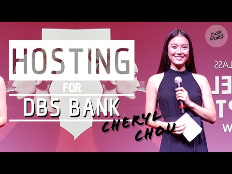 Cheryl Chou | Hosting for DBS Bank Corporate Event | Basic Models