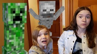 Chased By A Creeper!  Minecraft Treasure Hunt!