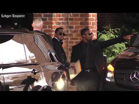 'Diddy' And His Children Leave Hotel For Kim Porter's Funeral