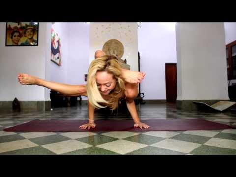 Advanced Yoga Demo with Kino in India