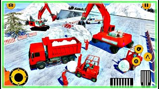 Real Heavy Snow Excavator Simulator - Construction Vehicles: Excavator Games #1 | Android Gameplay