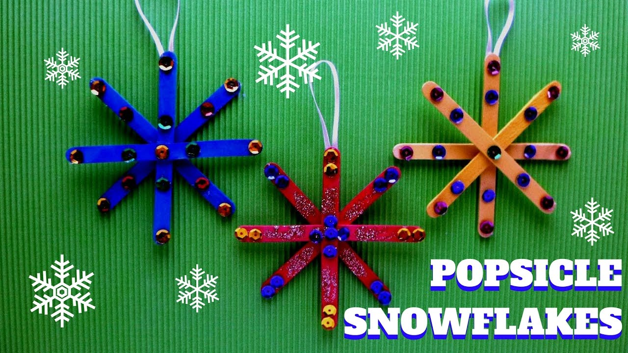 Lollipop Stick Christmas Decorations.Christmas Craft Popsicle Stick Snowflake Popsicle Stick Craft