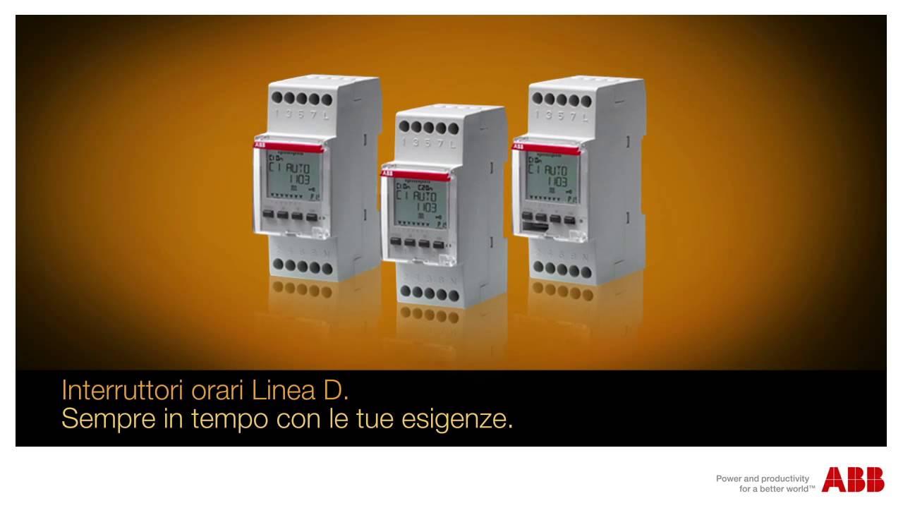 Schema Collegamento Orologio Vemer : Linea d u2013 gli interruttori orari digitali di abb youtube