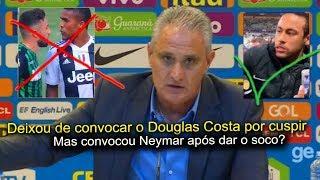 Eita! Tite fica sem reação ao ter que explicar convocação de Neymar após soco
