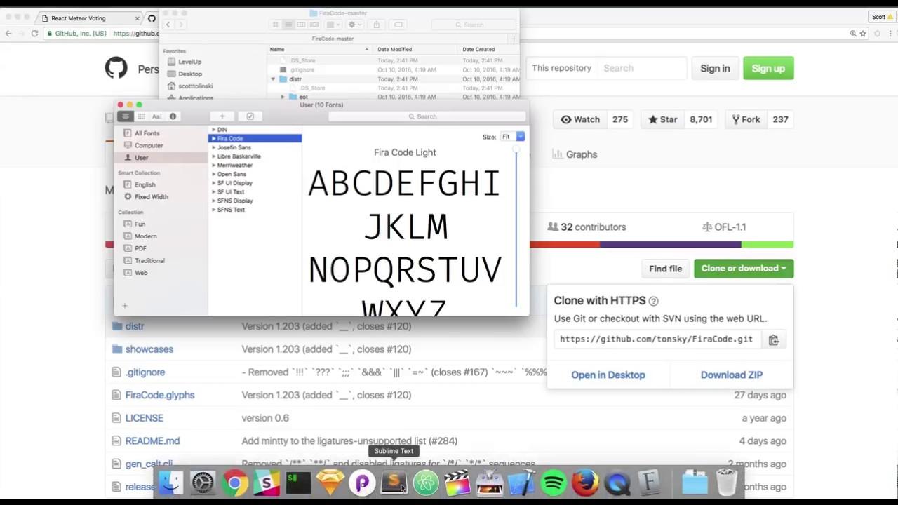 How to use Fira Code - Better Font For Web Development - Fira Code