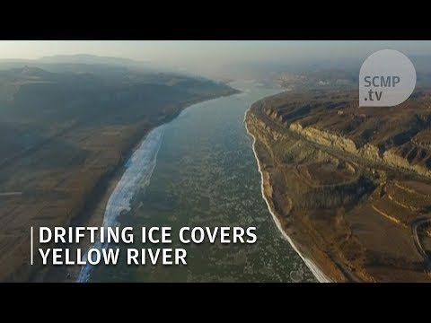 Yellow River begins to freeze over