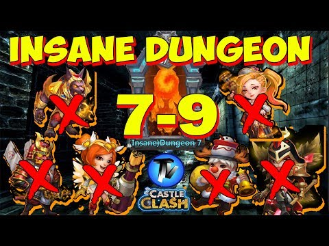 Castle Clash - Insane Dungeon 7-9 without Anubis, Mike, Nick, Ronin, HB, GS