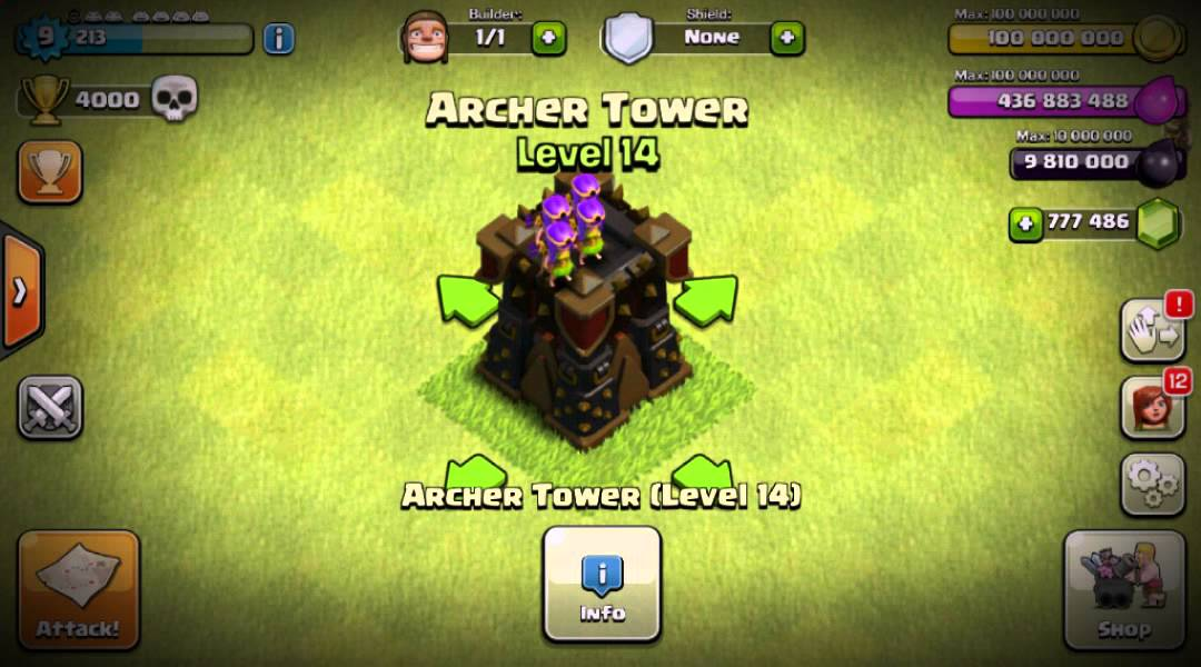 Clash of clans - Archer tower level 14 !