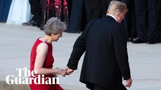 Trump receives grand welcome at Blenheim Palace