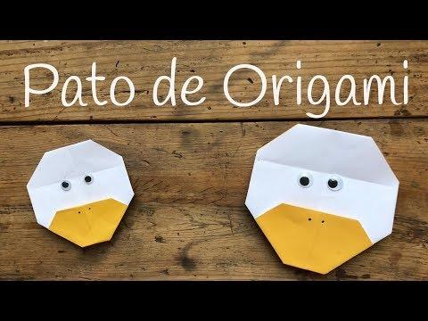 Pato de origami fácil para niños