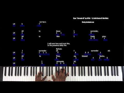 I Surrender All piano tutorial