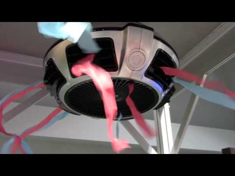 Exhale Bladeless Ceiling Fan Full Scale Vortex Airflow