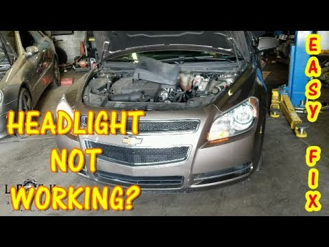 Driver Side Low Beam Works Intermittently 2008 2017 Chevy Malibu
