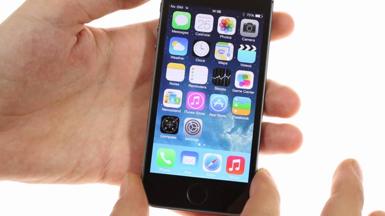 Apple iPhone 5s: user interface - YouTube