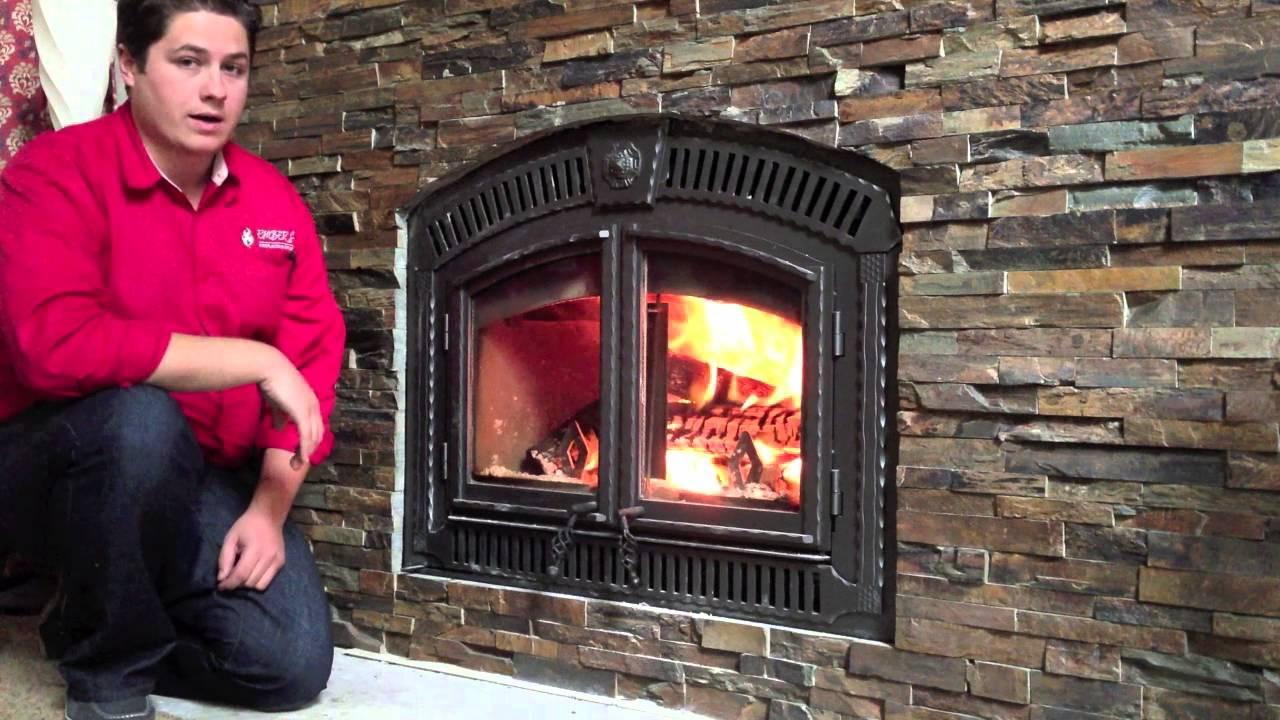 NZ3000 Napoleon Wood Burning Fireplace Zero Clearance Product reivew Burn Video  YouTube