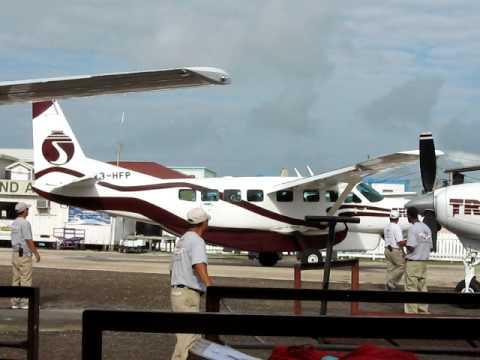 Tropic Air Cessna Caravans at San Pedro Airport Belize