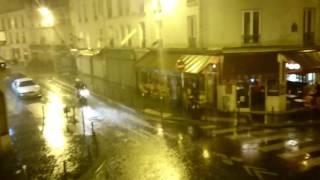 Orage violent sur Paris : Pluies diluviennes, record en une heure (09/07/17) ! [HD]