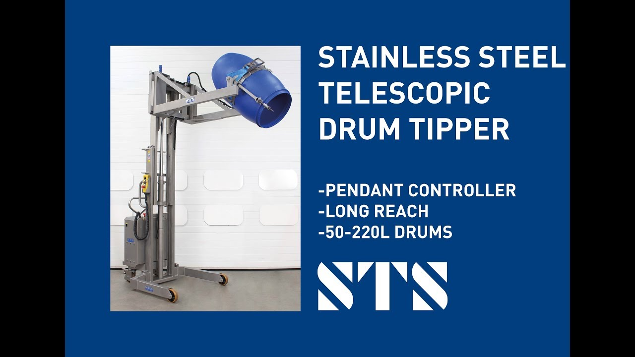 Stainless Steel Telescopic Drum Tipper