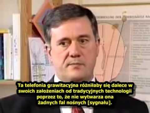 Grawitacyjny telefon komórkowy bezemisji fal