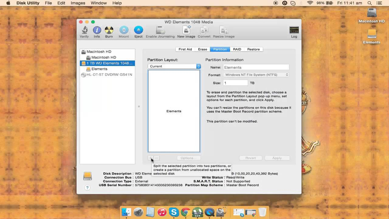 How to partition external hard disk in mac